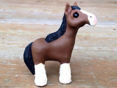 Clydesdale horse: Handmade miniature polymer clay by AnimalitoClay