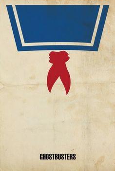 Ghostbusters Minimalist Movie Poster