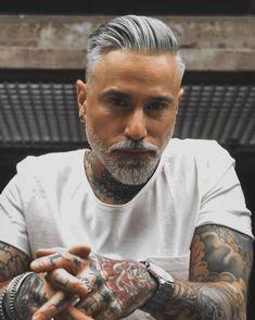 Older Men Haircuts, Older Mens Hairstyles, Undercut Hairstyles, Undercut Pixie, Pixie Haircuts, Pixie Hairstyles, Beard Styles For Men, Hair And Beard Styles, Hair Styles