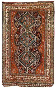 Love the burnt oranges and teals I'm seeing in this rug - color scheme
