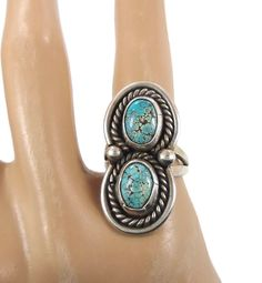 Navajo Turquoise Sterling Silver Ring  Vintage by InVintageHeaven, $48.00