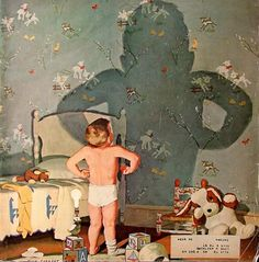 """Big Shadow, Little Boy"" ... by Dick Sargent 1911 – 1978   American"