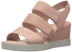 e7acd28e13670b ECCO Women s Shape Plateau Wedge Sandal. This elegant wedge plateau sandal  is made with the