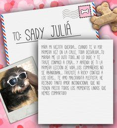 Valentine's Day Note for Sady Juliá from Lilian de Juliá on 3MillionDogs.com