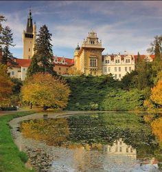Průhonice castle near Prague. Surrounding park is a part of Unesco World Heritage (Central Bohemia), Czechia #Unesco #Czechia #castles