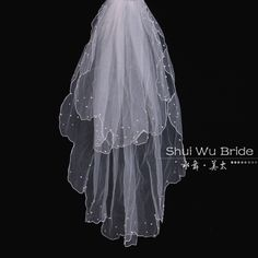 Water Dance Special Dream Starry beads beige lace bridal veil wedding double wedding accessoriesXN5 $17.21