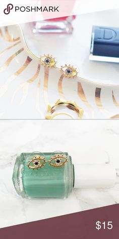 Adia Kibur The Eyes Have It Studs Beautiful crystal studs that look great alone or paired with other accessories! Perfect for every day of the week! Adia Kibur Jewelry Earrings