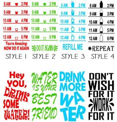 Water Bottle Vinyl Decals | Set of 2 | Jane