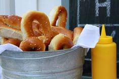 """soft pretzels as """"concession food"""" Baseball Birthday Party, First Birthday Parties, 5th Birthday, Baseball Party Games, Theme Parties, Birthday Ideas, Concession Stand Food, Baseball Food, Baseball Buckets"""