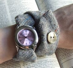 cool watch made from a tweed tie