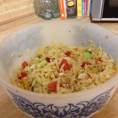 Orzo salad! Favorite summer side dish.