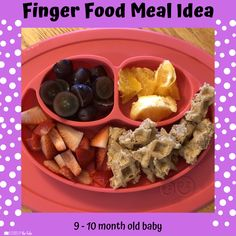 Babies Eating at 10 Months - Lessons By The Lake 10 Months Baby Food, Healthy Baby Food, Food Baby, Baby Meal Plan, Whole Wheat Waffles, Baby Solid Food, Baby Fruit, Baby Finger Foods, Baby Eating