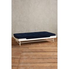 Anthropologie Lacquered Haverhill Daybed ($1,298) via Polyvore featuring home, furniture, sofas, blue, anthropologie furniture, anthropologie sofa, blue furniture, anthropologie and blue lacquer furniture