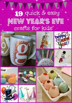 19 Quick And Easy New Year's Eve Crafts For Kids #holidays #crafts #newyearseve