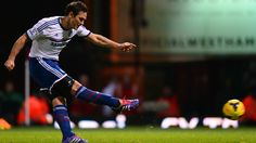 Spot kicks are a speciality for Frank Lampard, scoring a penalty against his old club in Chelsea's win at West Ham. West Ham, Chelsea Fc, Blues, Kicks, Football, Running, Sports, Soccer, Hs Sports