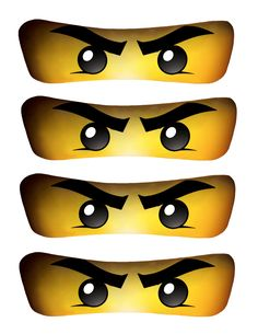 It is a graphic of Impeccable Ninjago Eyes Printable