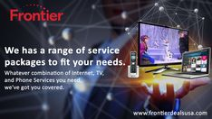 Frontier Communications delivers quality TV, Internet and Phone services at an affordable price. Get the services you need at the price you want. Frontier Communications, Phone Service, Internet, Good Things, Tv, Best Deals, Cover, Television Set, Television