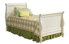 Summer Breeze Cottage Off White Full Sleigh Bed 4/6