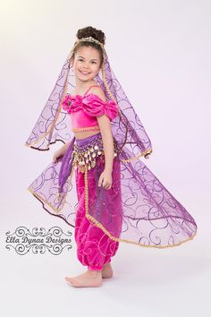 Genie Princess Basic Costume Disney Inspired Set