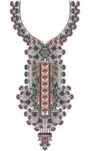 10117 Neck Embroidery Design
