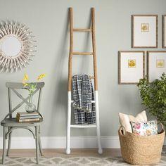 Surprise Deal Wood 6 ft Blanket Ladder By Laurel Foundry Modern Farmhouse Rustic Ladder, Rustic Wood, Ladder Decor, Diy Ladder, Rustic Blankets, Farmhouse Blankets, Wood Blanket Ladder, Quilt Ladder, Blanket Rack