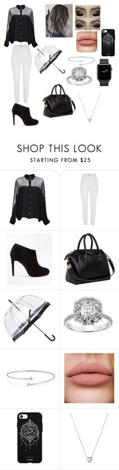 """Untitled #94"" by raybellar5 ❤ liked on Polyvore featuring Gucci, River Island, New Look, Givenchy, Fulton, Elsa Peretti, Fifth & Ninth and Links of London"