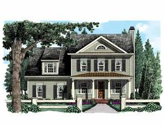 Don't like the 1st flr, but nice deck and awesome 2nd flr! Eplans Country House Plan - Great Flow, Thoughtful Details - 2407 Square Feet and 4 Bedrooms(s) from Eplans - House Plan Code HWEPL75273
