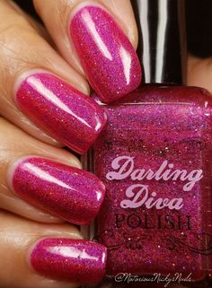 "Darling Diva Polish - Electric Barbie-ella"" - Hella Holo Customs - January 2017"