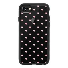 WATERCOLOR POLKA DOT (Transparent) (Pink) (Hearts) - iPhone 7 Case,... ($40) ❤ liked on Polyvore featuring accessories, tech accessories, iphone case, pink polka dot iphone case, slim iphone case, transparent iphone case, pink iphone case and iphone cases