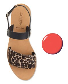 Power Couples: The Best Polish & Sandal Combos for Summer - DIOR & J. CREW   Nails: Aventure, $25; dior.com. Sandals: $198; jcrew.com