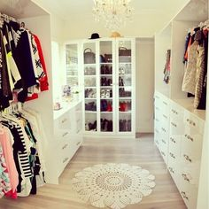 Closet organization - haha we can dream...I think this is the same size of our bedrooms!