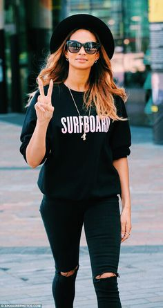 I love her style so much✌️