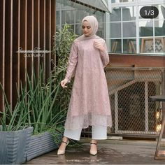 Kebaya Modern Hijab, Kebaya Hijab, Kebaya Dress, Modern Hijab Fashion, Abaya Fashion, Muslim Fashion, Look Fashion, Kebaya Brokat, Fashion Dresses