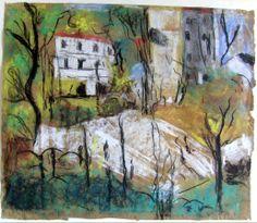 Place Vintimille (also known as Berlioz Park) - Edouard Vuillard - 1915