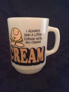 Vintage 1979 I Always Like Cream In My Coffee Ziggy Comics Coffee Cup Mug #UniversalPressSyndicate