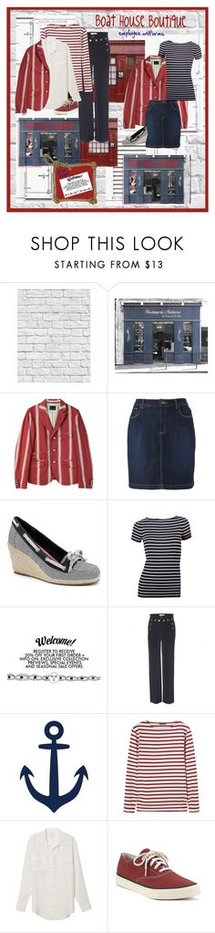 """""""Boat House Boutique"""" by halebugg ❤ liked on Polyvore featuring Chopard, Milton & King, Croft & Barrow, Sperry, Gucci, Valentino, WALL, Saint James, Equipment and Spring"""