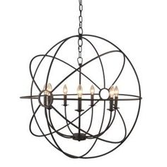 Y Decor Infinity 7-Light Rustic Bronze Mini Chandelier LZ2005-7-RS at The Home Depot - Mobile