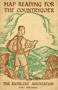 """""""Map Reading For The Countryside"""" from The Ramblers' Association Vintage Book Covers, Vintage Books, Vintage World Maps, Vintage Ephemera, Essay On Education, When I Dream, Beauty And The Best, Tourist Map, Cartography"""