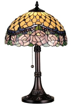 Jeweled Rose Table Lamp