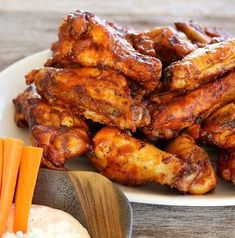 Juicy, tender, and delicious, chicken wings that fall of the bone are easy in the Instant Pot or pressure cooker. Barbecue or Buffalo style.