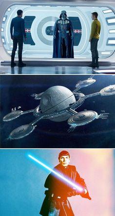 Fan Art of the Day: Star Wars + Star Trek Cross Over
