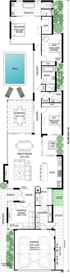Idea for home floor plan Best House Plans, Dream House Plans, Modern House Plans, House Floor Plans, Loft Floor Plans, Unique Floor Plans, Courtyard House Plans, The Plan, How To Plan