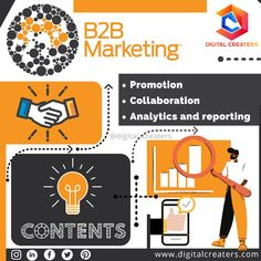 B2B marketing is the variant of marketing between two businesses. B2B marketing Or Business to Business marketing is the marketing of products from one business to other. For more information and services regarding digital marketing and marketing visit us!! #contentmarketing #marketingnews #digitalmarketing #SEO #analytics #blogging #marketing #branding #marketingtips #marketingstrategy #promotion #startup #b2bmarketing #socialmediamarketing #onlinemarketing #digitalcreaters #business