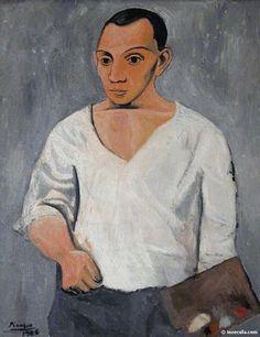 Pablo Picasso Autoportrait à la palette, 1906, oil on canvas, 90 x 70 cm. Museum of Art, Philadelphia