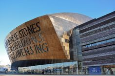 Millennium Centre, Cardiff Bay, Cardiff Wales UK seen in scenes of Torchwood. Visit Cardiff, Cardiff Bay, Cardiff Wales, Wales Uk, Fun Places For Kids, Places To See, British Travel, Visit Wales