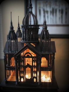 Victorian gothic Architectural carved palace birdcage on by georgeysgal! Future House, My House, Duomo Milano, Gothic Home Decor, Victorian Gothic Decor, Gothic Interior, Gothic Bedroom, Gothic House, Victorian House
