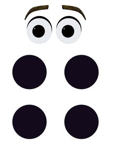 Printable Olaf Eyes and Buttons for DIY Halloween Costume or Party Decoration. More