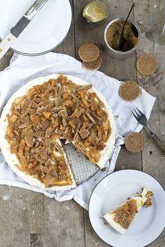 Monchoutaart met stroopwafels en karamel recept