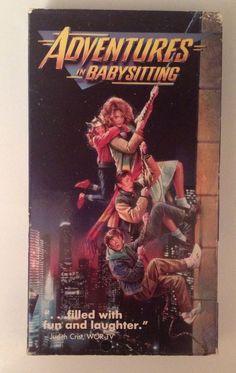 ADVENTURES IN BABYSITTING; 1987 VHS; Elisabeth Shue, Vincent D'Onofrio