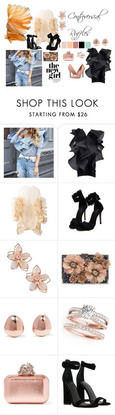 """""""Controversial Ruffles"""" by fernandalopezgarcia on Polyvore featuring moda, Pierre Cardin, Roberts-Wood, NAKAMOL, Sondra Roberts, Monica Vinader, Jimmy Choo, Kendall + Kylie y Charles by Charles David"""